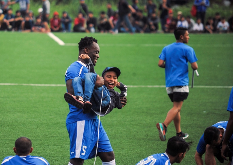 To combine football and charity, Michael Essien also staged a charity football match