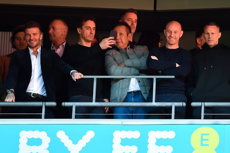 Neville, Neville, Butt, Giggs and Scholes took on the mean feat of rebranding a football club - Salford City.