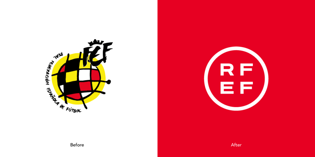 RFEF-logo-before-and-after