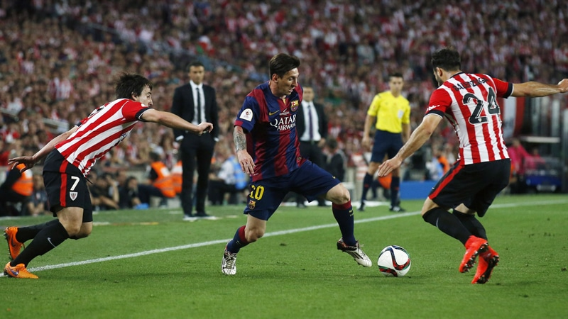 Branding for Footballers: Lionel Messi scores an iconic goal against Atletico Bilbao in the 2015 Copa Del Rey Final