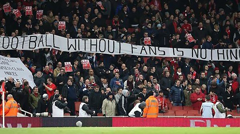 Identity in football branding: Football is nothing without the fans.