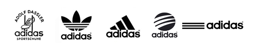 The very first Adidas logo wasn't a classic symbol we know now.