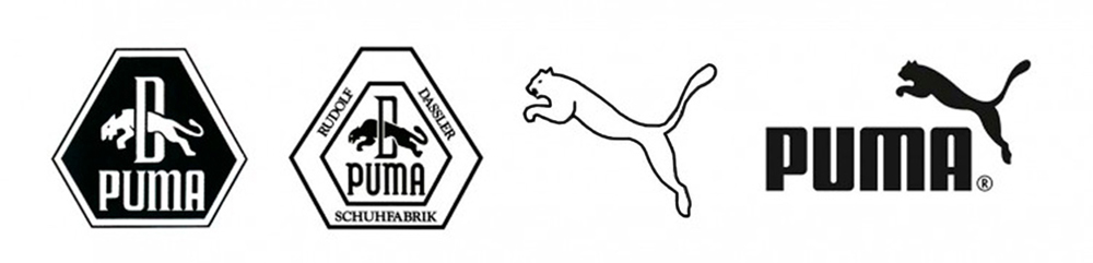 Although the earliest PUMA logo was introduced in 1948, the company prefers to mention the 1957 emblem.