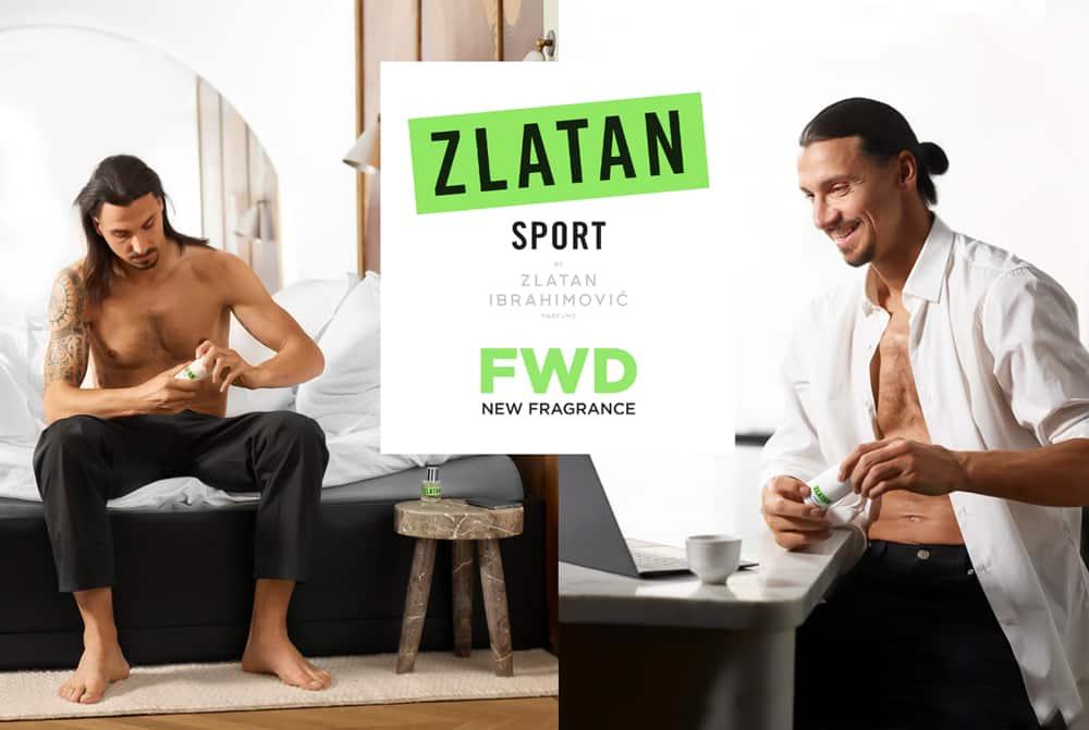 Zlatan Ibrahimovic and his fragrance brand.