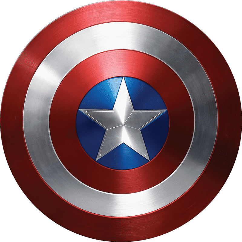 Captain America's shield is an example of iconography in branding.